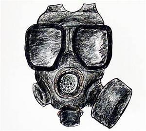 Pin Gas Draw Mask Skeleton Gaz Evil Gasmask Tattoo ...