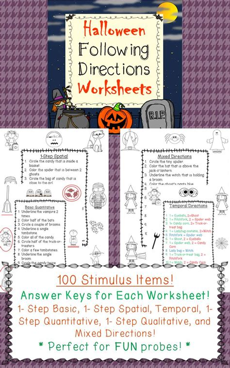 following directions worksheets back to school