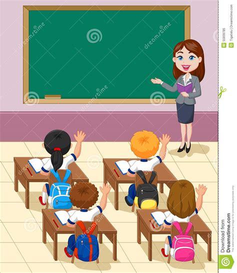 cartoon  kids  study   classroom stock vector