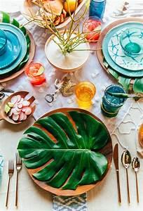 Deco Table Tropical : 35 best summer table decoration ideas and designs for 2017 ~ Teatrodelosmanantiales.com Idées de Décoration