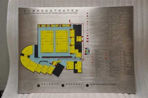 braille  tactile floor plan audible system