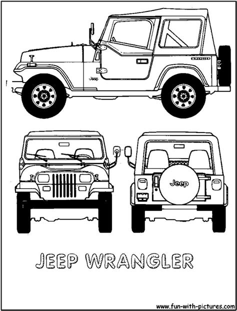 yellow jeep clipart cartoon jeep clip art jeep wrangler colouring pages