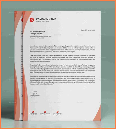 modern letterhead templates company letterhead