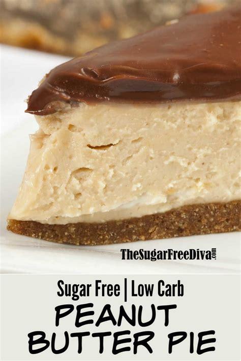 Caramel, peanut butter and chocolate: Sugar Free Peanut Butter Pie | Sugar Free Recipes #sugarfree #dessert #pie #keto #lowcarb # ...