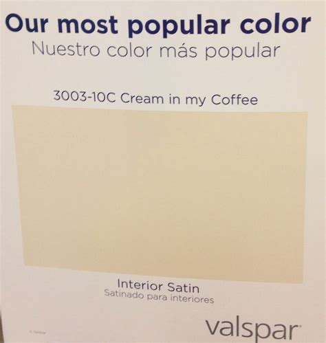 lowes says their most popular paint color is valspar