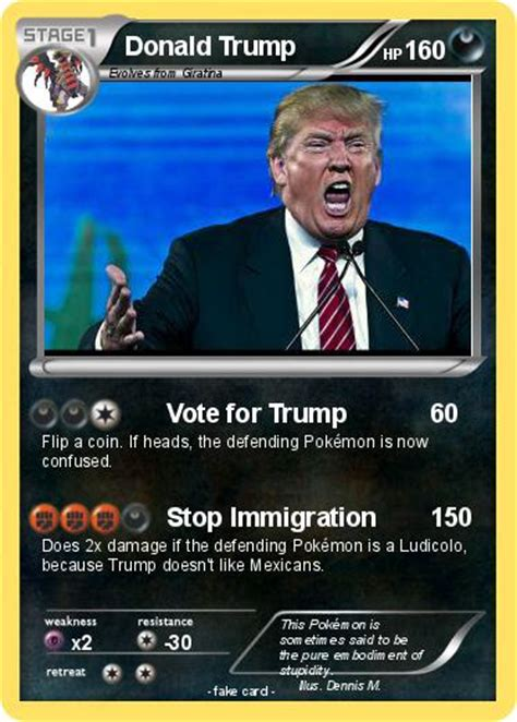 Explore some history while we check out these cheap trump cards are quite amazing for the price. Pokémon Donald Trump 212 212 - Vote for Trump - My Pokemon Card