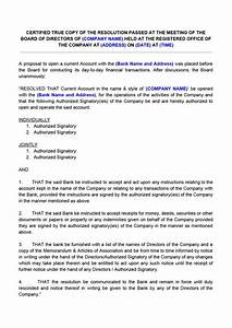 Board Resolution for Opening Bank Account  IndiaFilings  Doent Center