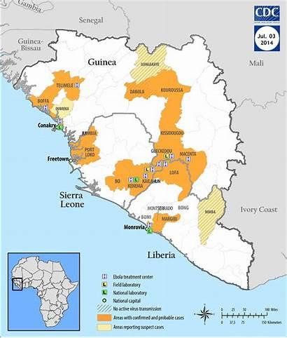 Ebola Map Sierra Leone Guinea Liberia Animated