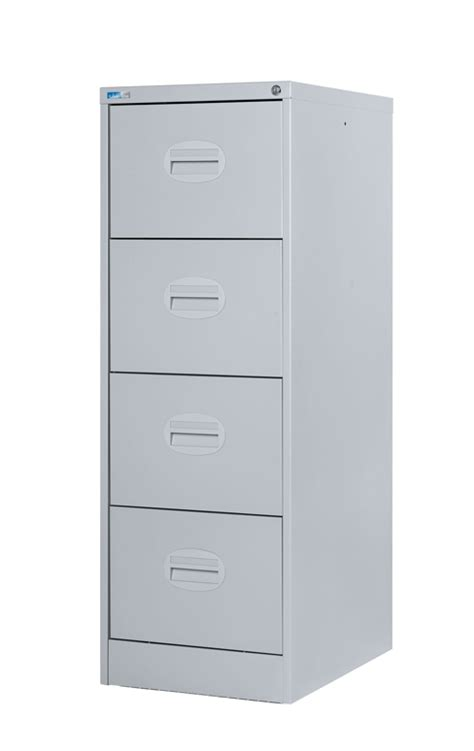 4 Drawer Filing Cabinets - 4 drawer filing cabinet light grey lockable and assembled