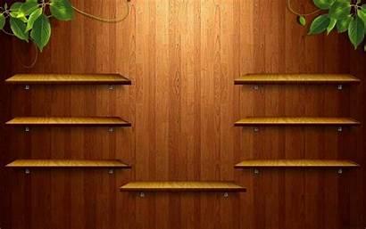 Bookshelf Empty Desktop Bookcase Wood Office Shelves