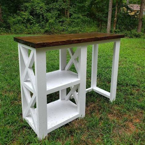 This coffee table has a durable metal base for reliable support. Rustic X Coffee Bar / Rustic X Farmhouse Coffee Bar / Mini Fridge Table / Dining Bar / Farmhouse ...