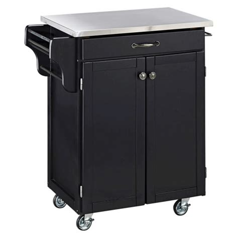 target kitchen island cart kitchen cart with stainless steel top wood black home 6010