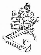 Tractor Excavator Bulldozer Coloring Pages Deere John Total Nice Loader sketch template