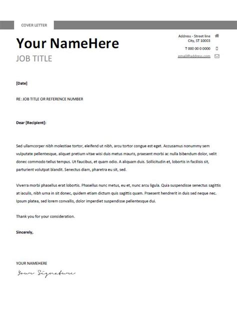 simple cover letter ideas   pinterest