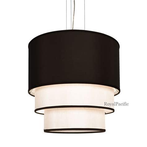 4 l 3 tier 20 5 quot drum shade chandelier pendant lighting