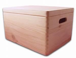 Box Mit Deckel : aufbewahrungsbox holzkiste mit deckel und griffl chern kiefer gr 3 aufbewahrungsboxen aus ~ Orissabook.com Haus und Dekorationen