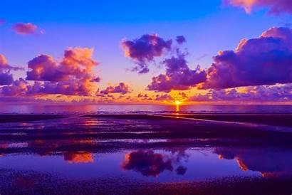Horizon Sunset Background Desktop Natural Sea