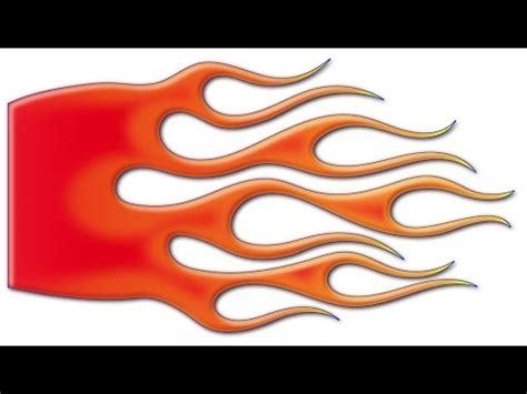 Adobe Illustrator/Photoshop Hot Rod flames demonstration ...