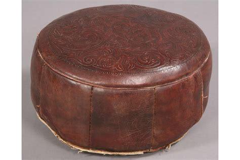 vintage leather footstool vintage leather ottoman 3235