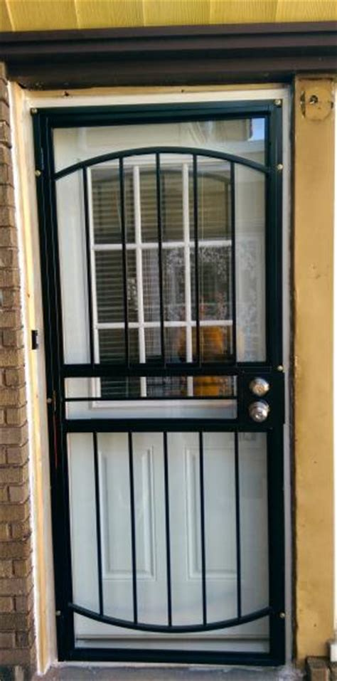 installed   entry door security storm door