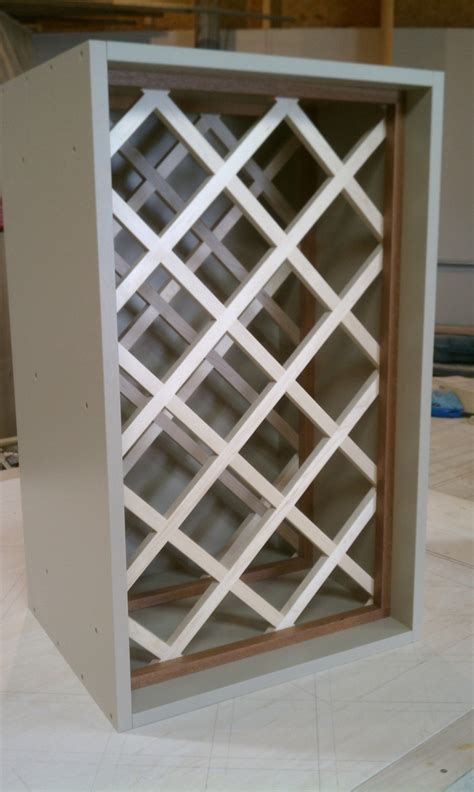 how to build a wine cabinet how to build a lattice wine rack over the refrigerator