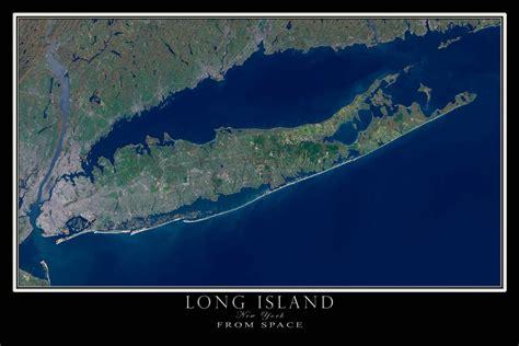 Long Island New York Satellite Poster Map – TerraPrints.com