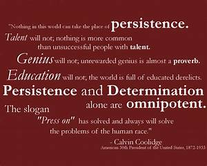 Perseverance Quotes Coolidge. QuotesGram
