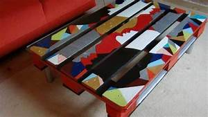Table Basse Palettes : fabriquer une table basse en palette bricolage facile ~ Melissatoandfro.com Idées de Décoration