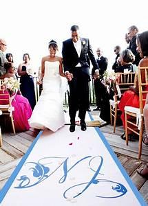 quand le tapis de ceremonie se pose sur la plage With tapis personnalisé mariage
