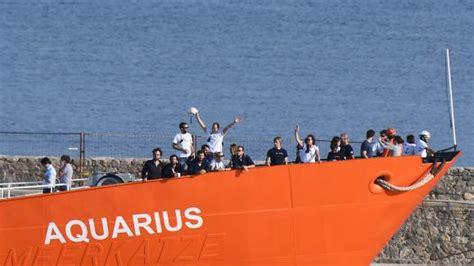 Aquarius Bateau Position by Micro Europ 233 En Les Migrants De L Aquarius L Italie