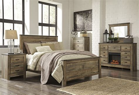 Bedroom Rental Sets by B446 32 Trinell Dresser With Fireplace Option