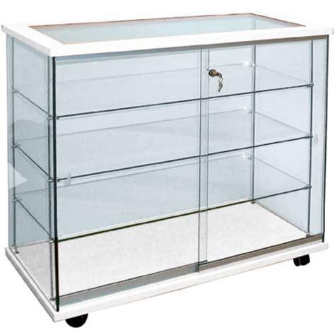 comptoir vitrine en verre tremp 233