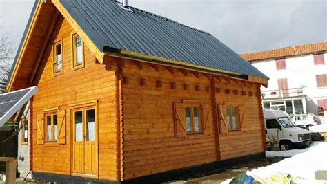 chalet habitable de 42m2 avec mezzanine en bois en kit avec mezzanine