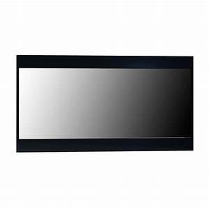 miroir rectangulaire bois laque noir quinze lestendancesfr With miroir rectangulaire noir