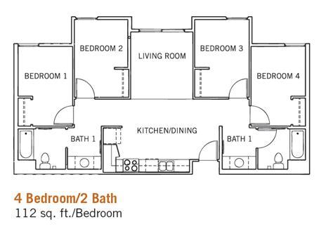 4 bedroom 2 bath floor plans glen mor