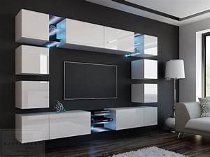 Tv Wand Modern : kaufexpert wohnwand edge wei hochglanz mediawand ~ Michelbontemps.com Haus und Dekorationen