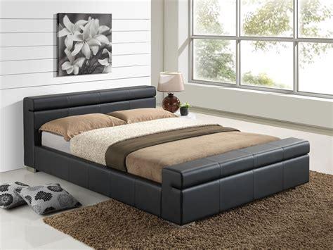Leather Bed by Furniturekraze Ltd Durham Faux Leather Bed Black