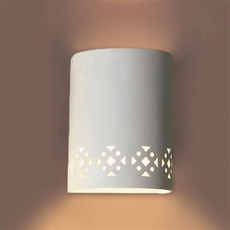 Ceramic Wall Sconces - 7 quot southwestern motif ceramic wall sconce