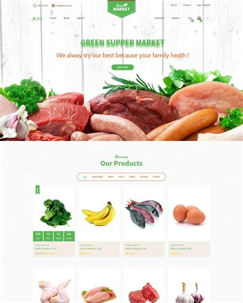 Green Market - Organic Food Restaurant WooCommerce Theme