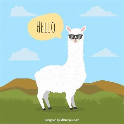 Alpaca Sfondo Achtergrond Nuvoletta Fondo Freepik Gratis
