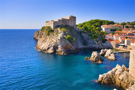 A Fortress In Dubrovnik A Beautiful City On The Adriatic