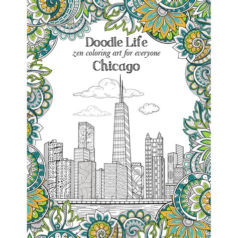 chicago adult coloring book city of chicago adult coloring book tree free shop eco