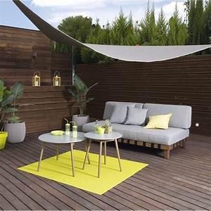 Voile Pour Terrasse : toile triangulaire pour terrasse ~ Premium-room.com Idées de Décoration