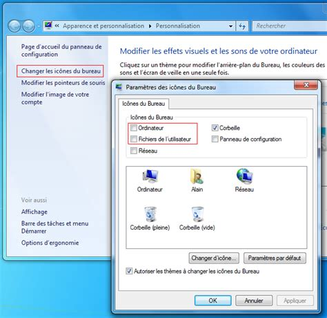 comment afficher la corbeille sous windows 7