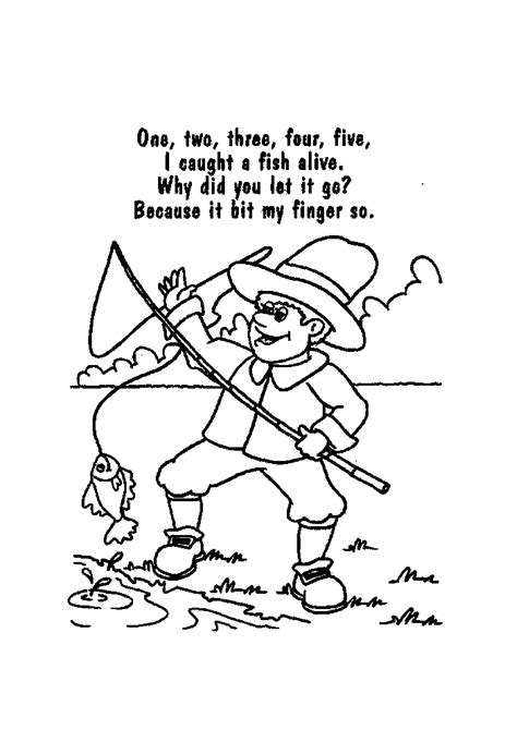 nursery rhymes coloring pages coloring