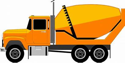 Lorry Truck Cement Mixer Clipart Vector Background
