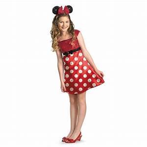 Girls Minnie Mouse Costume Fancy Dress Headband Red Disney ...