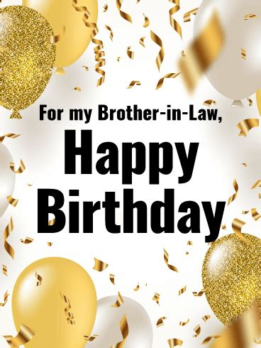 classy balloons happy birthday card  brother  law