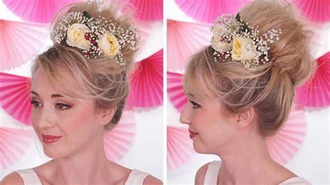 coiffure mariage facile 224 faire soi m 234 me fleurs naturelles