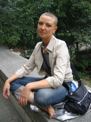 cool bald hairstyle  women